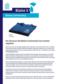 30 years of Blaise Community