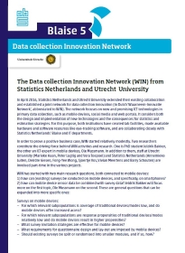 Data Collection Innovation Network (WIN)
