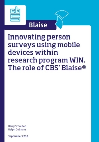 Innovating person surveys using mobile devices within research program WIN. The role of CBS' Blaise®