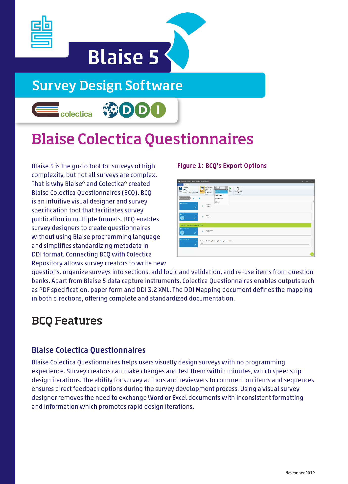 Blaise Colectica Questionnaires