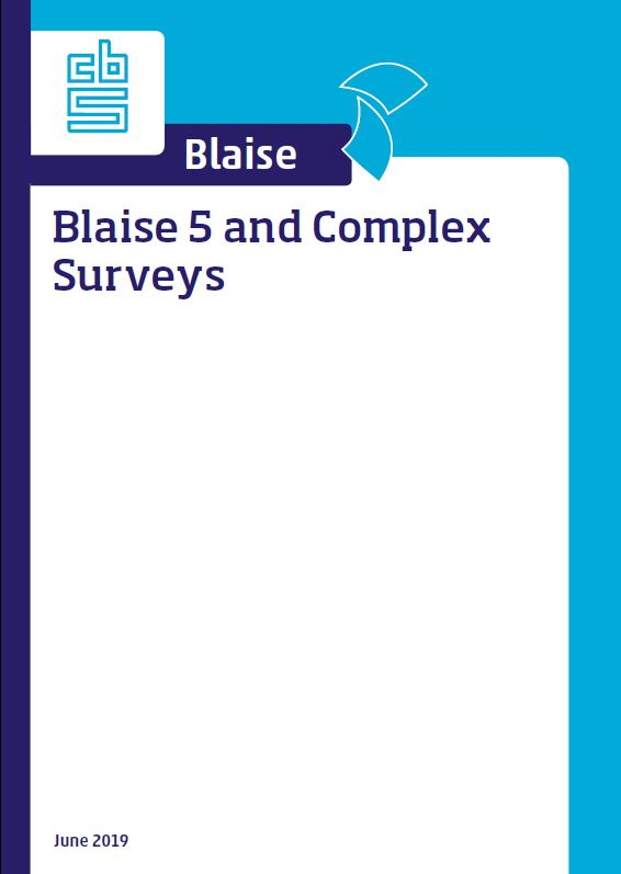 Blaise 5 and Complex Surveys